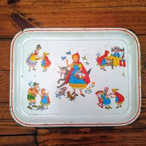 Vintage Little Red Riding Hood Tin Tray